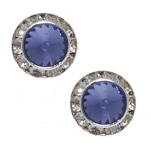 Integra 12mm Lilac Clip On Earrings