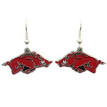 Arkansas Razorbacks Dangle Logo Earring Set Charm Gift at Amazon.com