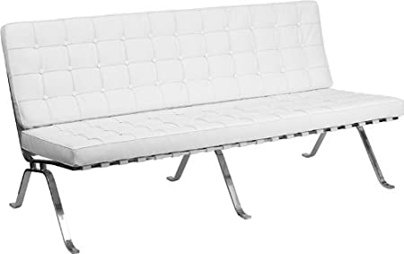 HERCULES Flash Series White Leather Sofa with Curved Legs ZB-FLASH-801-SOFA-WHITE-GG