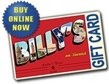 Billy's on Burnet Gift Card ($10)
