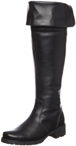 Softwaves Women's Chev Knee Plain Black Over the Knee Boots 4.78.09 4 UK, 37 EU