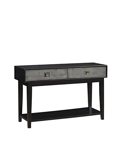 Coast to Coast Contemporary 2-Drawer Console, Black