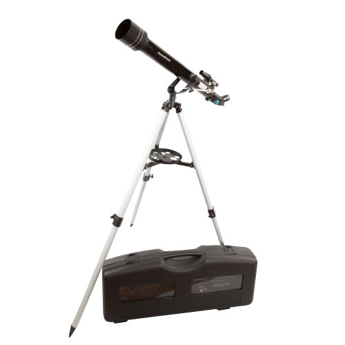 Black Twinstar 60Mm Refracting Telescope / 175X Magnification / Built-In Compass / 3 Different Eyepieces / Hard Plastic Carrying Case