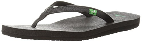 Sanuk Women's Yoga Joy Flip Flop,Black,7 M US