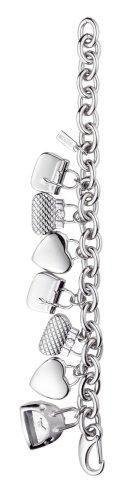 Moschino 7753350195-Orologio al quarzo da donna, in acciaio INOX, colore: argento