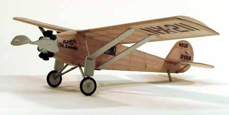 Dumas 209 Spirit of St. Louis - Over 50 Laser Cut Parts. - Walnut Scale Wooden Model Airplane