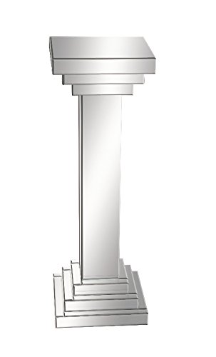 Benzara 87202 Simple But Grand Wood Mirror Pedestal (Mirrored Pedestal compare prices)