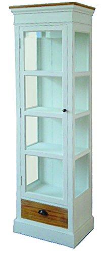 Protector de pantalla de cristal vitrina de armario de estilo shabby chic de registro de nuevo de alta calidad y mueble
