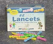 Can Am E Z Ject Junior Colored Lancet Fits Most Popular Lancing Devices - Box Of 200 - Model 006-200