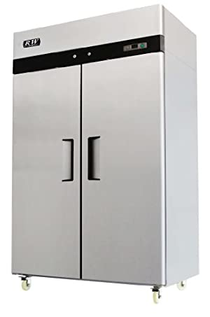 RW Kitchen Equipment Stainless Steel 2 Door Refrigerator
