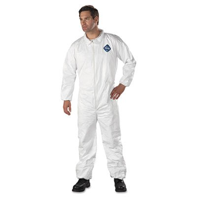 E.I. Dupont De Nemours Industrial Use Tyvek� Coveralls With Elastic Wrists And Ankles. Includes 25 Coveralls. Manufacturer Part Number: Dup Ty125S2Xl