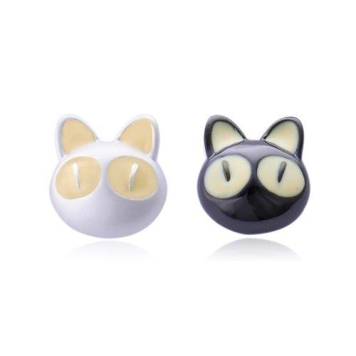 Brand IUHA ★ IUHA ★ cute cute black and white cat-Chan earrings ★