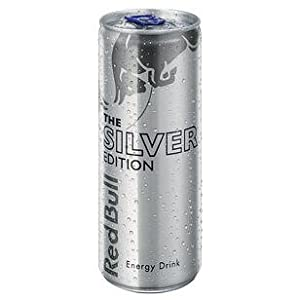 Red Bull, Special Silver Edition, 48 Cans With Each 0.25 Litre From Austria, Original Red Bull With Citrus Taste