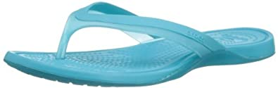 Crocs Adrina, Women's Flip flops, Aqua/Surf, 4 UK