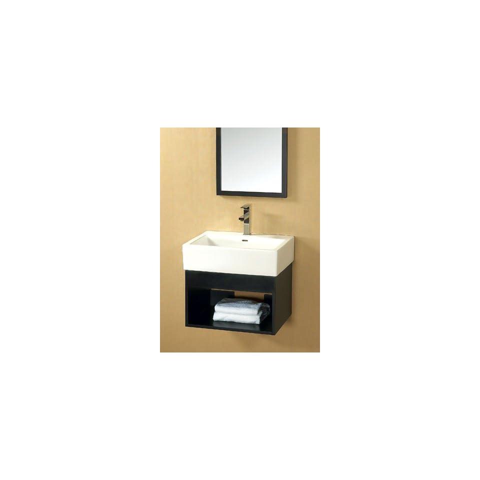 Bathroom Vanity Set W/ Single Hole Ceramic Faucet Deck & Wood Framed