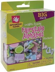 Fibre Craft Foam Alphabet Stickers 1.4 Ounces/Pkg Fairy Tale 64031; 3 Items/Order