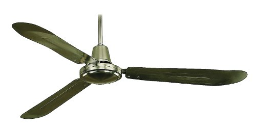 Royal Pacific 1091Ba Industrial Fan 3-Blade 56-Inch Ceiling Fan, Brushed Aluminum