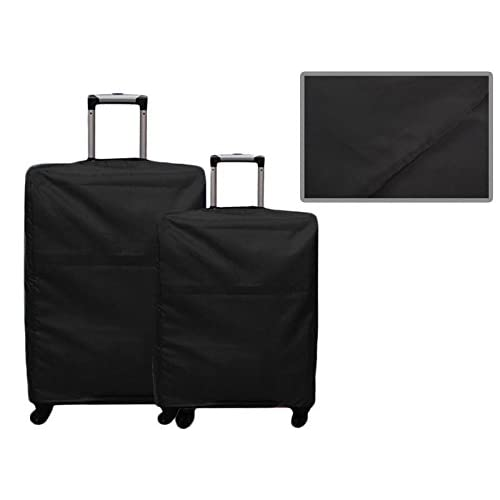 多サイズ スーツケース防水防塵用カバー 旅行携帯用 24インチ? ブラック