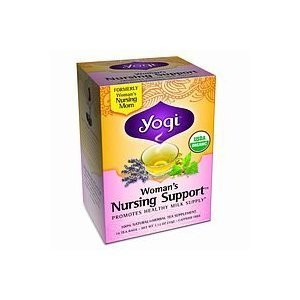 Yogi Woman'S Nursing Support, Herbal Tea Supplement, 16-Count Tea Bags