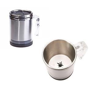 Taza mezcladora con un botón (funciona con 2 baterías AAA) - Whirl Wind Mug - Self Stirring. Precio: $18.95
