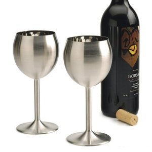 Rsvp Endurance Stainless Steel Wine Glass, Set Of 2 front-441432