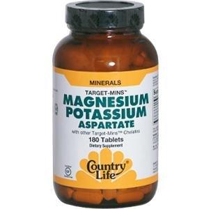 Country Life Target Mins Mag/Potassium/Aspartate, 180-Count