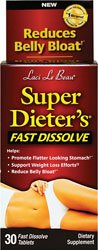Super Dieter's Fast Dissolve-Bloating Relief and Laxative Weight Loss, 30 Fast Dissolve Tablets, (Contains Fast Acting Senna Leaf Extract)