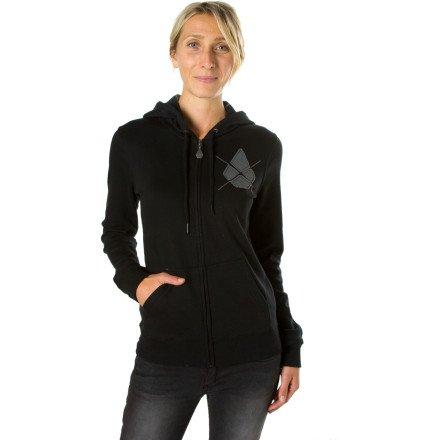 Volcom YAE Standard Full-Zip Hoody - Women's Black, XL