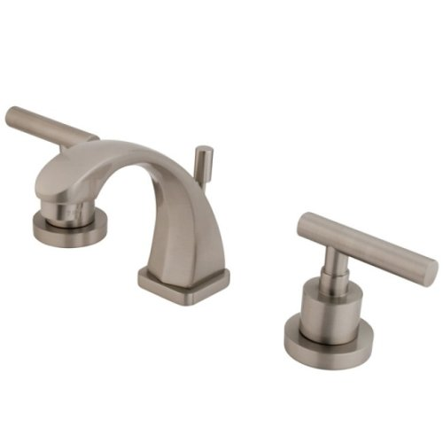 Kingston Brass KS4948CML Concord Mini Widespread Lavatory Faucet, Satin Nickel