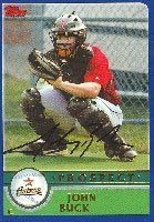 John Buck Rock Round Express - Astros Affiliate 2003 Topps Prospect Autographed Hand... by Hall of Fame Memorabilia