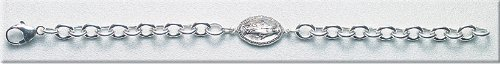 Sterling Silver Bracelet Bracelets Catholic Miraculous 7.5
