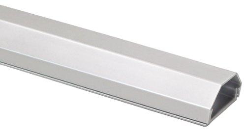 My Wall HZ4-0,75SIL Cache-câble en aluminium pour fixation murale Argent