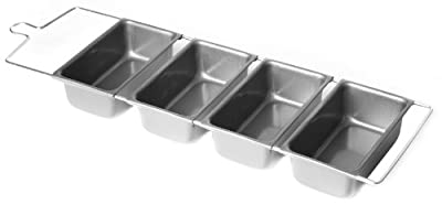 Chloe's Kitchen 203-169 4 Mini Loaf Pan, 4-Inch by 2.2-Inch, Non-Stick