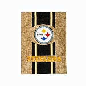 Pittsburgh Steelers Official NFL 12.5 inch x 18 inch Team Burlap Garden Flag from SteelerMania