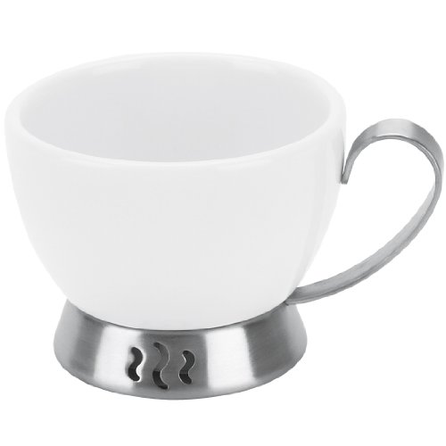 Want Trudeau Bianca 3-Ounce Espresso Cup, White Porcelain And Stainless Steel deal