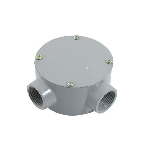 """Dimart G3/4"""" Right Angle Two Hole Connecting Metal Round Water-Proof Junction Box"""
