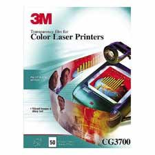 3M Commercial Office Supply Div. MMMCG3700 Color Copier-Laser Transparency Film- 5mil- 8-.50in.x11in.