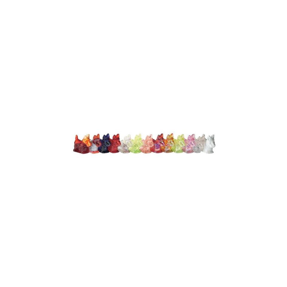 Mosser Glass Scottie Dog Figurine Vaseline Carnival on PopScreen