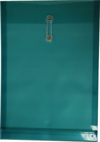 Filexec Poly envelope, Legal size, Top load, Button string closure ,Green (Pack of 6) (50058-14105) (Poly Envelope Top Load compare prices)