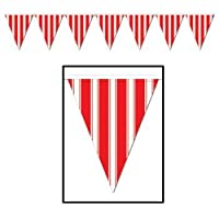 Striped Pennant Banner Party Accessory (1 count) (1/Pkg) by The Beistle Company