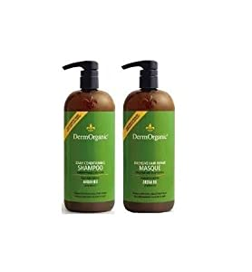 DermOrganic Daily Duo Shampoo & Masque 2x 33.8 fl oz bottles