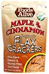 Foods Alive Organic Flax Crackers Maple and Cinnamon 8212 4 oz