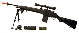 AGM M14 Airsoft AEG Rifle Bipod & Scope