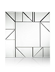 Square Cut Lines Mirrored Wall Art