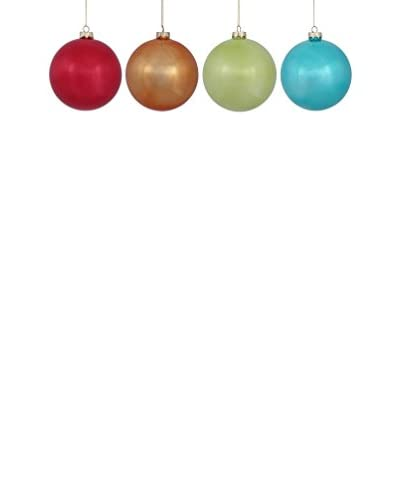 Winward Set of 4 Retro Brite Ornaments, Multi