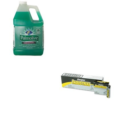 KITCPM04910CTEVEEN91 - Value Kit - Colgate Palmolive Dishwashing Liquid (CPM04910CT) and Energizer Industrial Alkaline Batteries (EVEEN91) kitmmmc60stpac103637 value kit scotch value desktop tape dispenser mmmc60st and pacon riverside construction paper pac103637