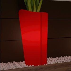 cache pot lumineux mercutio couleur rouge hauteur 60cm jardin. Black Bedroom Furniture Sets. Home Design Ideas