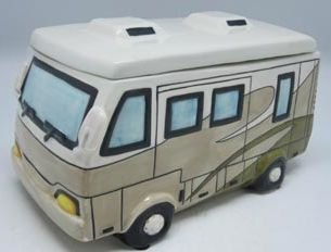 Cookie Jar Motorhome (Glazed Ceramic)