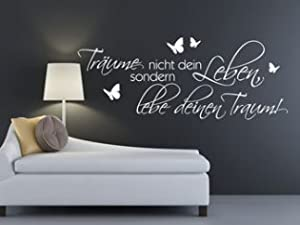 Träume nicht dein Leben sondern lebe deinen Traum#2  160x62 cm   Überprüfung und weitere Informationen