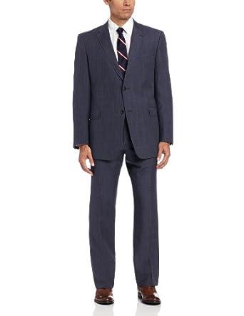 (清仓)Tommy Hilfiger汤米 男士精纺羊毛真丝西服套装 Nested Suit $84.74